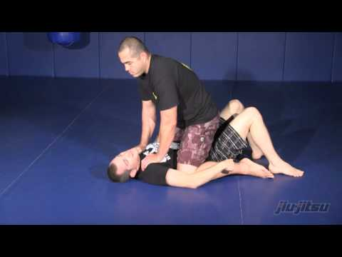 Escape the mount position to deep half guard