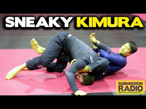 Kimura lock from top half guard position