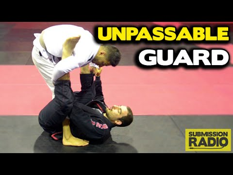 Unpassable guard sweep to ankle lock.