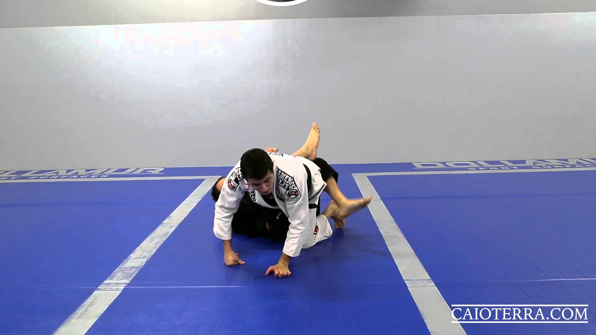 Passing the 50/50 guard by using a foot on the bicep