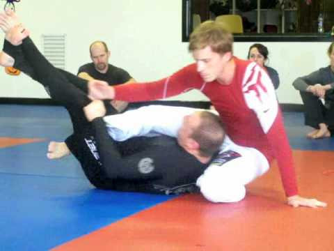 Deep half guard entry from quarter guard