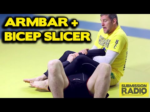 Rolling armbar with bicep slicer