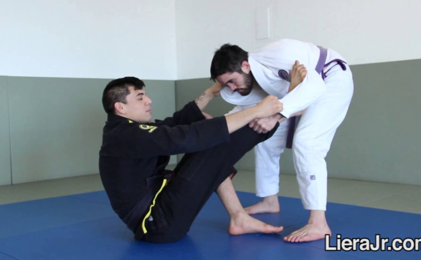 Spider Guard Sweep to Leg Drag when opponent is standing